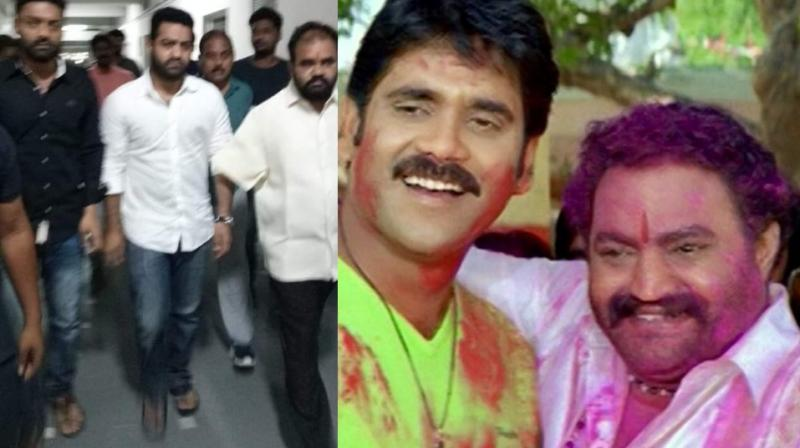 Jr NTR and Kalyanaram in hospital; Nandamuri Harikrishna with Nagarjuna in 'Seetharama Raju.'