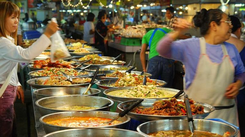 A view of a vendor stall in Bangkok market, Thailand. Photo: Creative Commons