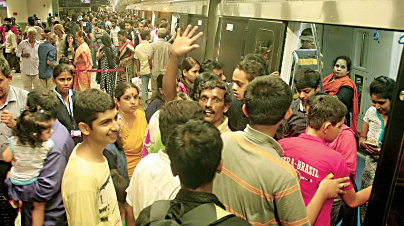 Image result for latest images of bengaluru metro station suicide