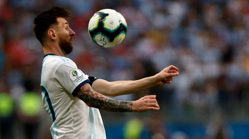 Goals from Lautaro Martinez and Sergio Aguero were enough to propel Argentina from bottom of Group B to second and into the quarter-final (Photo: AFP)