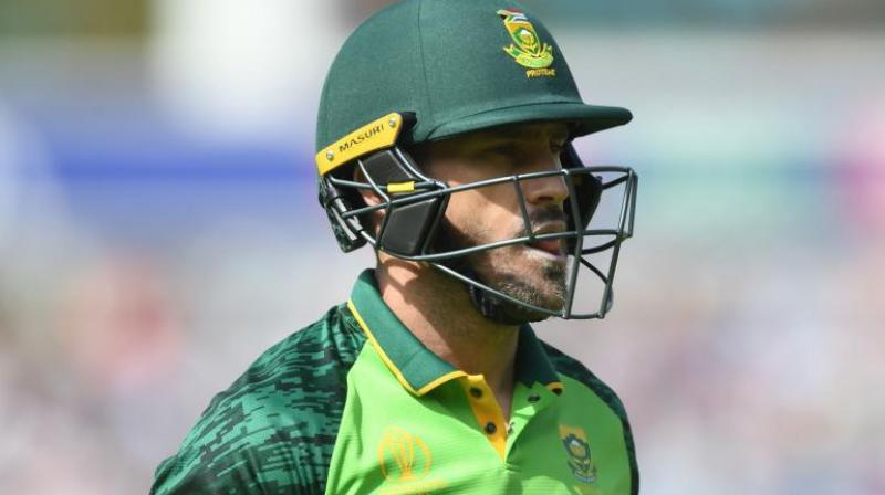 Du Plessis also blamed a poor start to the tournament where the side lost their opening three games (Photo: AFP)