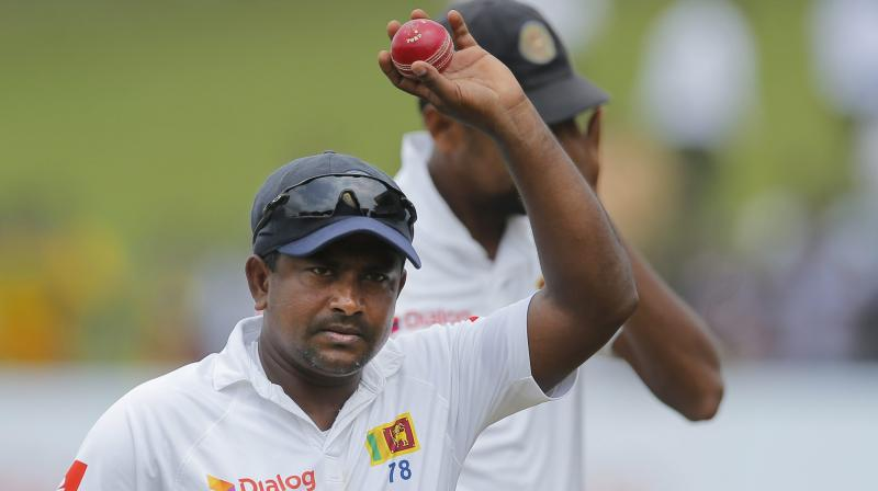 Herath has played 92 Tests, taking 430 wickets -- making him Sri Lanka's second most prolific bowler behind Muttiah Muralitharan, who holds the all-time world record of 800. (Photo: AP)