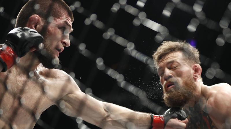 In his analytical round-wise post, McGregor said that from a sports standpoint, the first round belonged to Khabib while from a fight standpoint, he deserved the point. (Photo: AP)