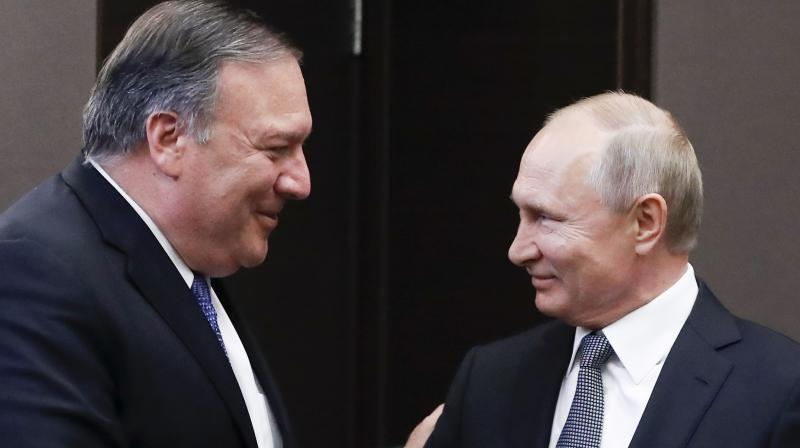 The sanctions came just two days after Secretary of State Mike Pompeo met Putin in the Russian resort of Sochi. (Photo:AP)