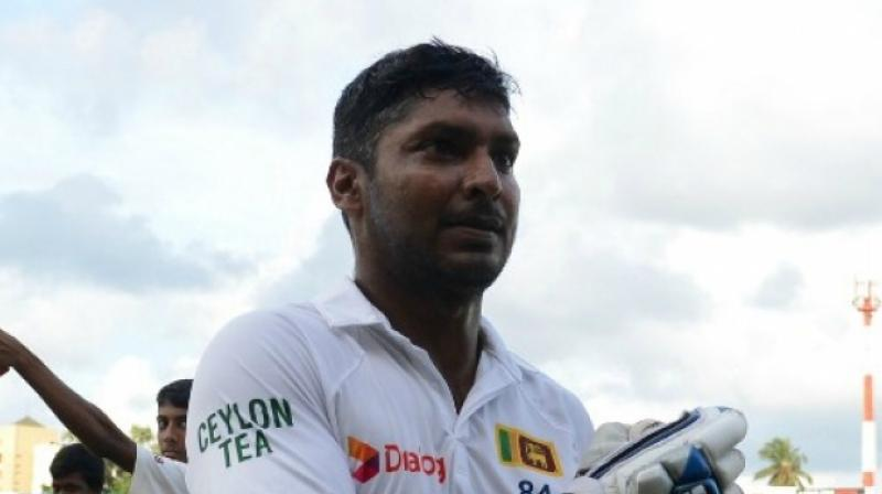 Kumar Sangakkara's last six first-class innings have seen him score 136 against Lancashire, 105 against Warwickshire, 114 and 120 against Middlesex – in a match where his portrait was unveiled in the Lord's pavilion – and 200 and 84 against Essex. (Photo: AFP)