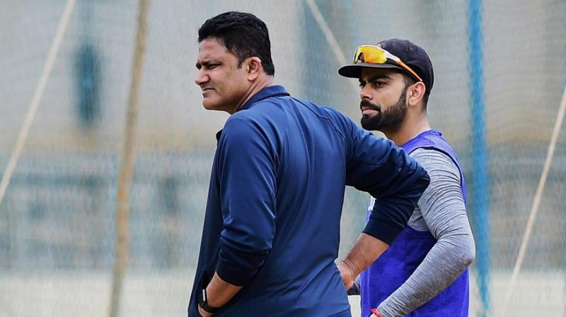 It is learnt that Anil Kumble, who replaced former Team Director Ravi Shastri at the helm of the affairs last year, has ruffled quite a few feathers in the Virat Kohli-led Indian side. (Photo: PTI)