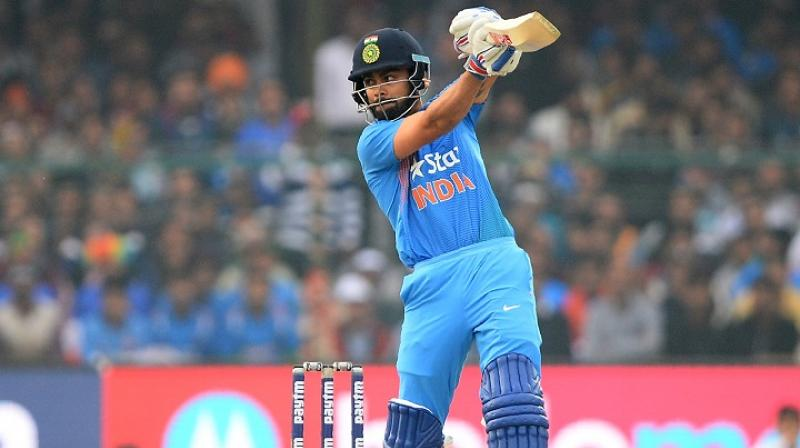 Indian captain Viurat Kohli is the only Indian in the ICC ODI rankings for batsmen. (Photo: AFP)