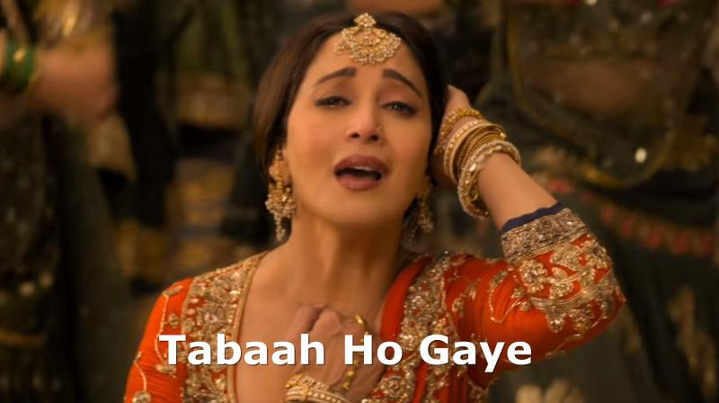 Kalank memes on song Tabaah Ho Gaye.