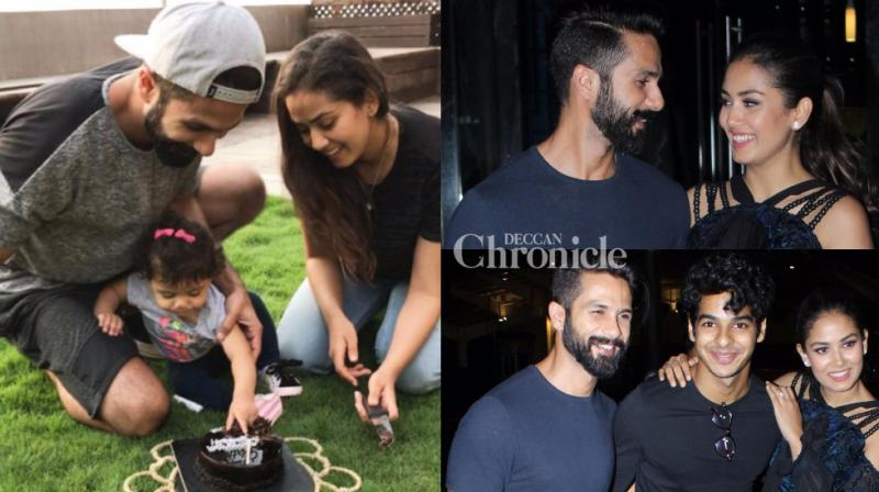 Shahid Kapoor's wife Mira turned a year older on Thursday and the family including their daughter Misha, and the actor's brother Ishaan Khatter were in celebratory mood on the occasion in Mumbai. (Photo: Viral Bhayani/ Instagram)