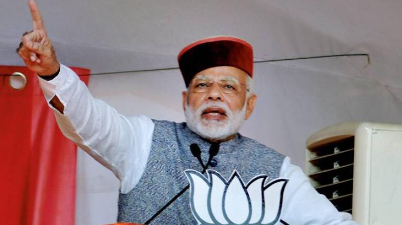 Modi was addressing a rally in Rait for the upcoming Himachal Pradesh elections. (Photo: PTI)