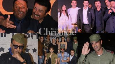 Teams of upcoming films 'Paltan' and 'Genius' celebrated with bashes in Mumbai on Wednesday. (Photo: Viral Bhayani)