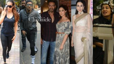 The paparazzi captured Bollywood stars at various locations in Mumbai as they stepped out for their professional and personal commitments on Wednesday. (Photo: Viral Bhayani)