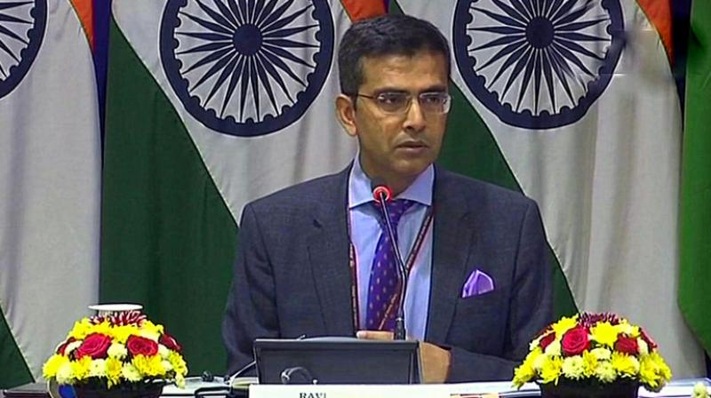 MEA spokesperson Raveesh Kumar (Photo: ANI | Twitter)
