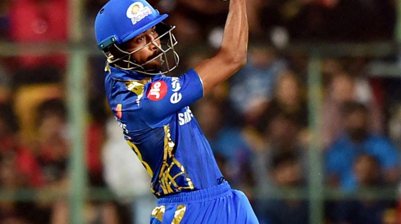 Since Pandya's comeback in New Zealand, he has shown more focus on the field and has been in tremendous form with the bat in the ongoing IPL as finisher for Mumbai Indians with 186 runs at a strike-rate of 191 plus. (Photo: PTI)