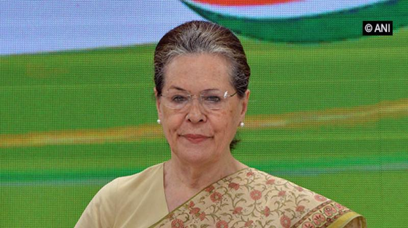 Congress President Sonia Gandhi. (Photo: ANI)