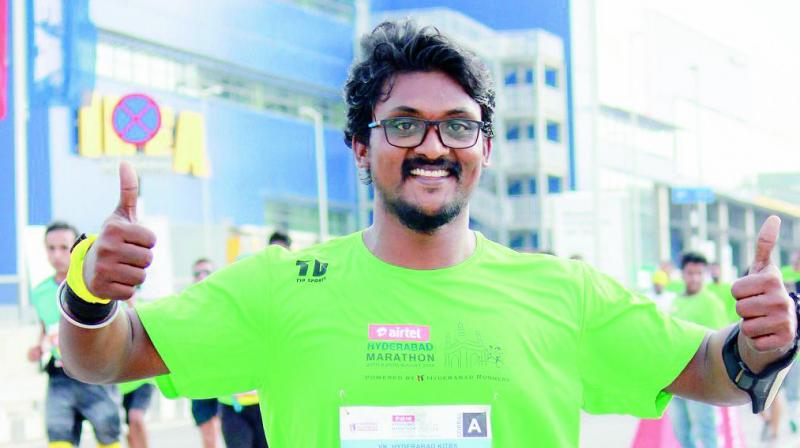 Karthik recently completed the 100 days of running challenge.