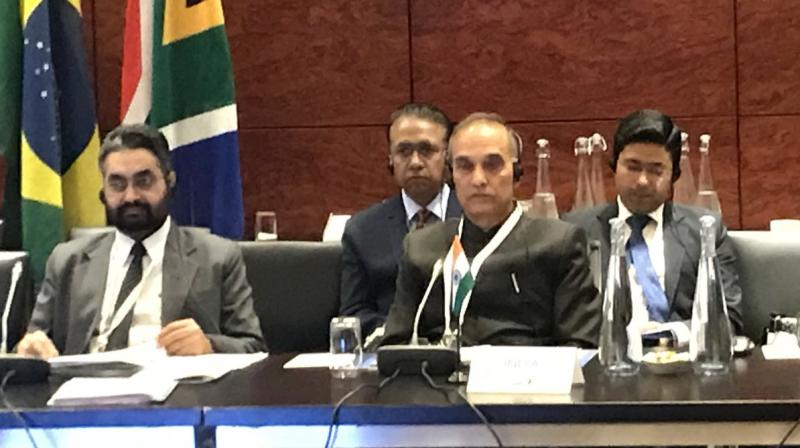 On the sidelines of the BRICS Education Ministers' meeting here, the minister of state for HRD echoed the views of his counterparts that many of the current traditional jobs will become redundant or demand different qualification requirements in future. (Photo: @dr_satyapal/Twitter)