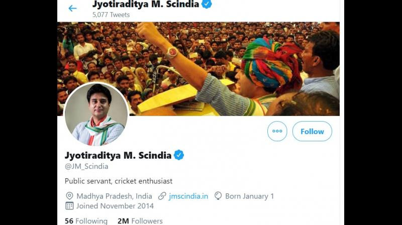 The 48-year-old leader removed Congress and the post he held earlier from his Twitter bio and mentioned 'public servant and cricket enthusiast', fuelling speculations that he could quit the party. (Photo: Screengrab)