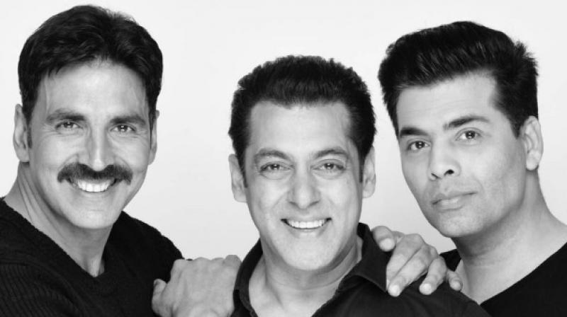 Akshay Kumar, Salman Khan and Karan Johar.