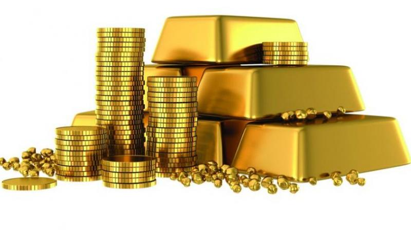 Globally, gold inched up 0.54 per cent to USD 1,329.10 an ounce in Singapore.