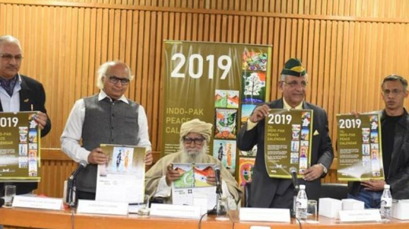 'Peace Calender' was released to send out a message of peace amid strain in bilateral ties.(Photo:Twitter @sudheenkulkarni))