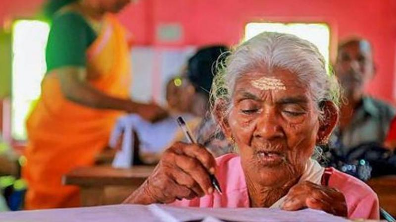 Over 2,050 candidates, including five in their 80s, on Sunday appeared for the Aksharashree literacy exam conducted here, the state literacy mission authority said. (Representational Image)