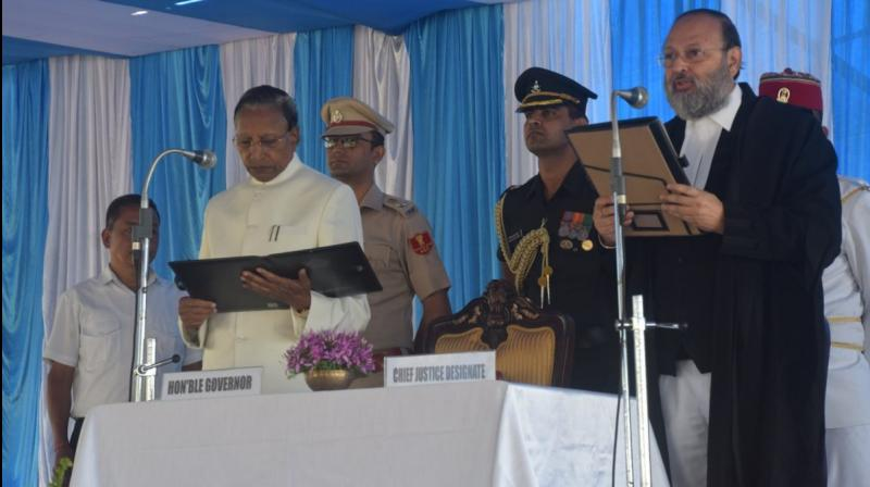 Justice Arup Kumar Goswami was on Tuesday sworn in as the new Chief Justice of the Sikkim High Court. (Photo: sikkim.gov.in)