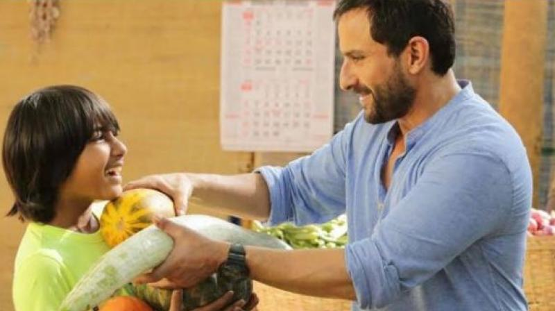Svar Kamble and Saif Ali Khan in a still from 'Chef.'