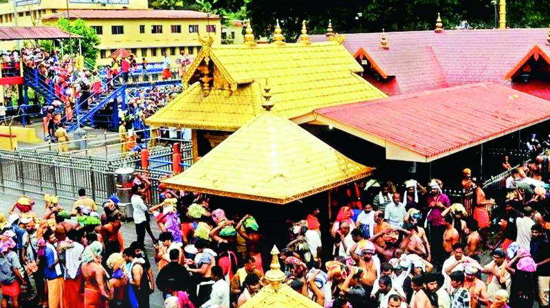 This is the second time Sabarimala temple would open for 'darshan' after the Supreme Court allowed entry of women of all age groups into it. (Photo: File)