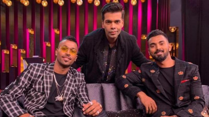 Both the cricketers had to face massive backlash on the social media after their appearance on the show. (Photo: Hardik Pandya/Twitter)