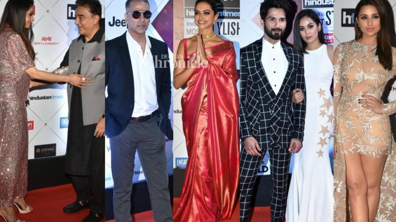 Bollywood stars looked their stylish at an fashion awards held in Mumbai on Wednesday. (Photo: Viral Bhayani)