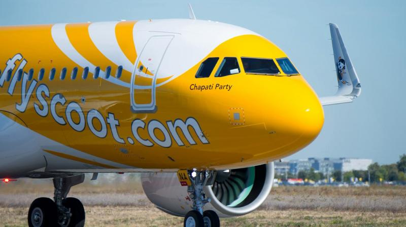 The business class passenger on board a Scoot flight also caressed the attendant's left hip, 'The Straits Times' reported. (Photo: Twitter | @flyscoot)