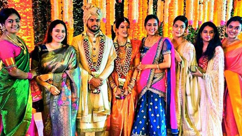 Manish Pandey and Ashrita Shetty on their wedding day