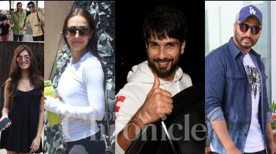 Bollywood celebrities like Shah Rukh Khan, Arjun Kapoor, Malaika Arora, Shahid Kapoor, Tara Sutaria, Ahan Shetty, Abhimanyu Dassani and others were snapped in the city of dreams, Mumbai. (Photos: Viral Bhayani)
