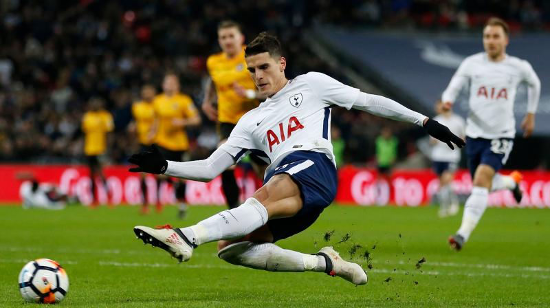 It was not long before Spurs had their second goal when Lamela getting on the end of a well-weighted through ball from Son scored for the first time since finding the net against Gillingham in September 2016