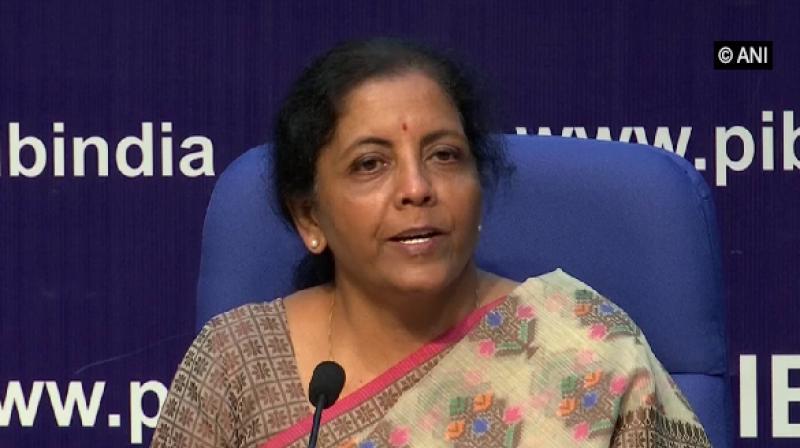 Union Finance Minister Nirmala Sitharaman. (Photo: ANI)