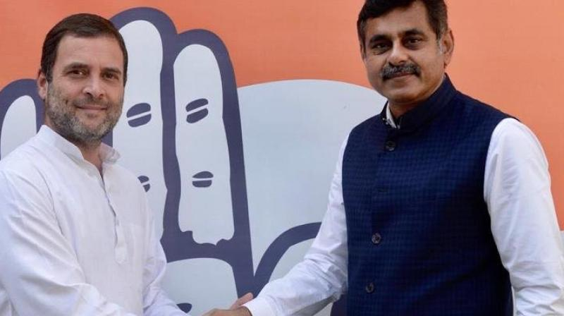 Reddy met Congress President Rahul Gandhi in Delhi on Wednesday and expressed his desire to join the party, Khuntia told PTI. (Photo: ANI | Twitter)