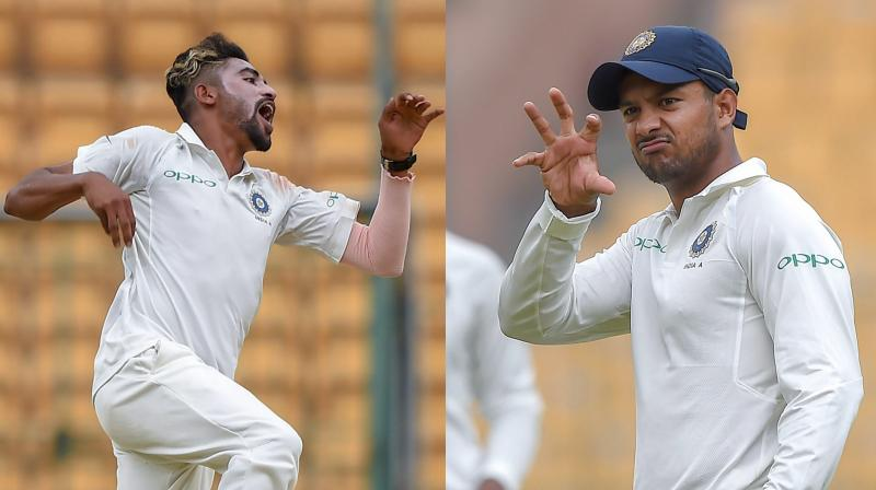 While youngster Prithvi Shaw was handed his debut in the opener, Virat Kohli and the team management also decided to give a maiden Test cap to fast bowler Shardul Thakur. (Photo: PTI)