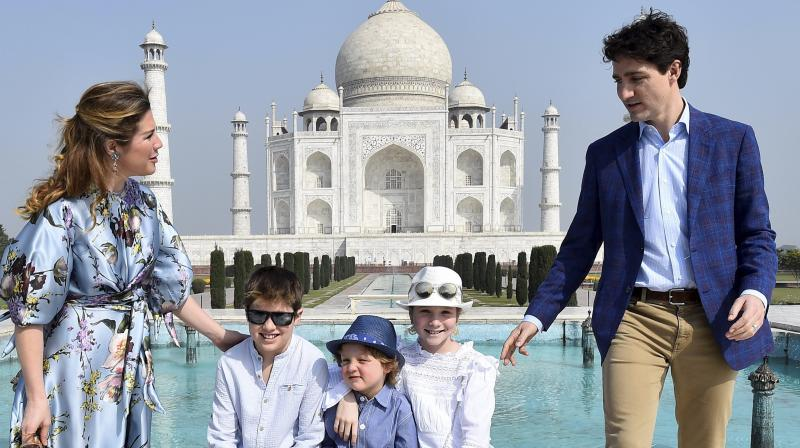 Image result for trudeau family India