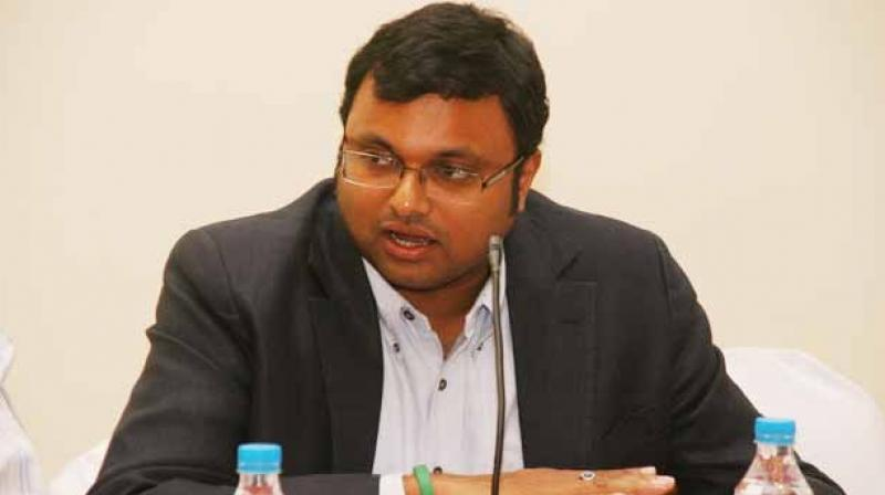 Karti Chidambaram is former finance minister and senior Congress leader P Chidambaram's son. (Photo: File)