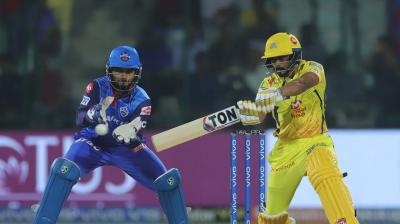Kedar Jadhav in action against Delhi Capitals on Tuesday. (Photo: BCCI)