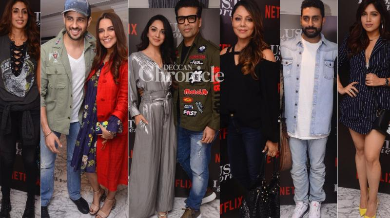 A screening of the film 'Lust Stories' was held in Mumbai on Wednesday, which was attended by many celebrities. (Photos: Viral Bhayani)