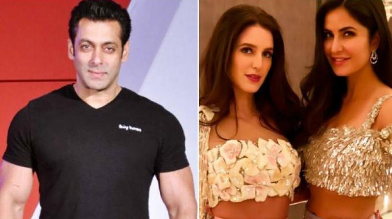 Salman Khan, Katrina and Isabelle Kaif.