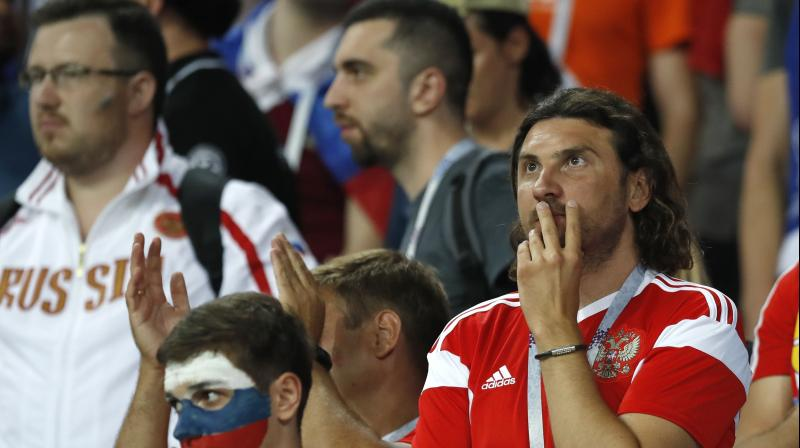 Russia's unexpected run to the quarterfinals sparked a surge of support from fans who had largely been indifferent to the team before the World Cup started. (Photo: AP)