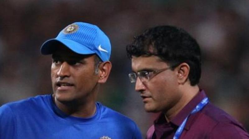 """If Sourav (Ganguly) had not persisted with him (MS Dhoni), India would have arguably lost its finest wicketkeeper-batsman till date,"" says the book ""Winning Like Sourav: Think & Succeed Like Ganguly"", written by Abhirup Bhattacharya. (Photo: BCCI)"