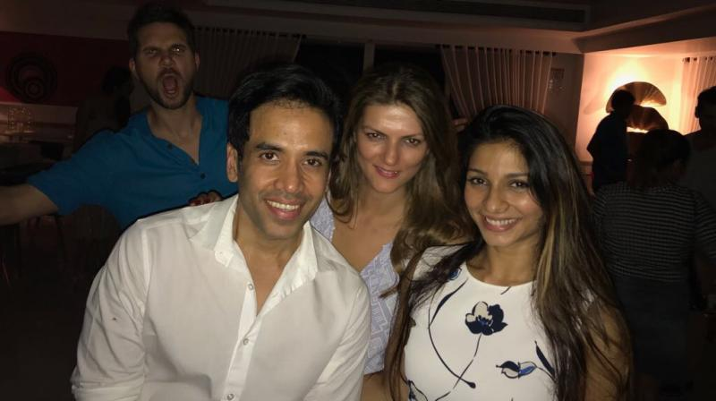 Tusshar Kapoor had a ball partying.