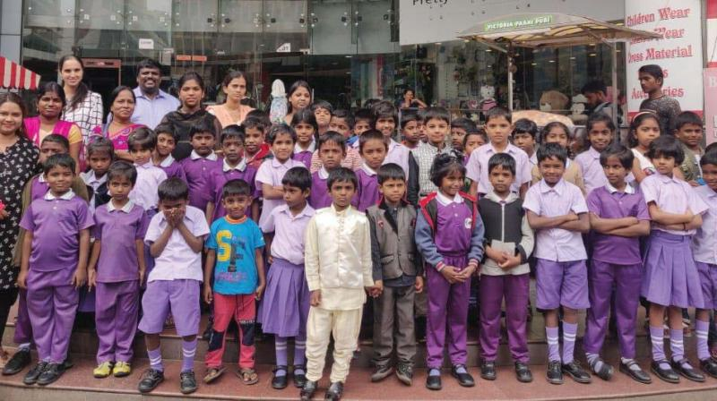 Greater Hope International India volunteers along with the children (Photo: DC)