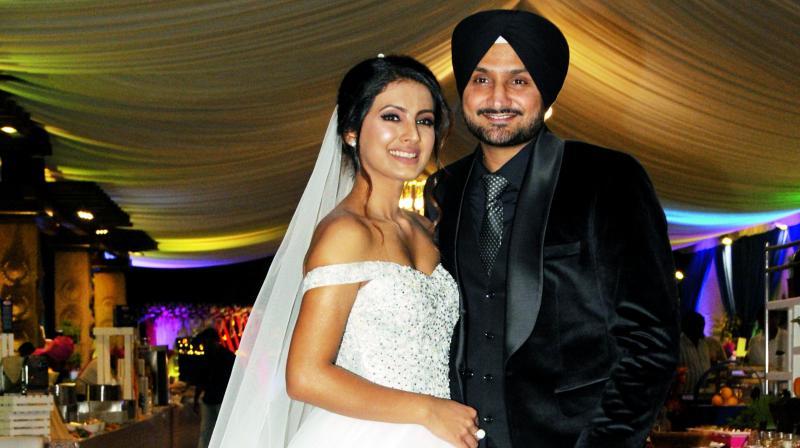 Harbhajan Singh and wife Geeta Basra
