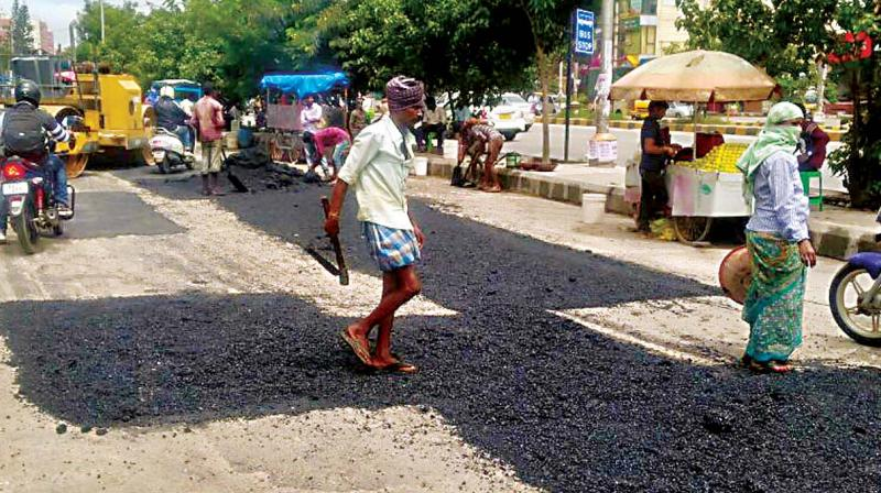 """What qualifies as a pothole for the BBMP? There are craters resembling the ones over the moon's surface and we do not know why the BBMP has not counted them,"" alleges Shruthi, a resident of Vidyaranyapura."
