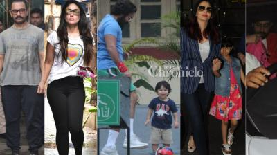 Bollywood stars were snapped by the cameras  at various locations in Mumbai on Friday. (Photos: Viral Bhayani)